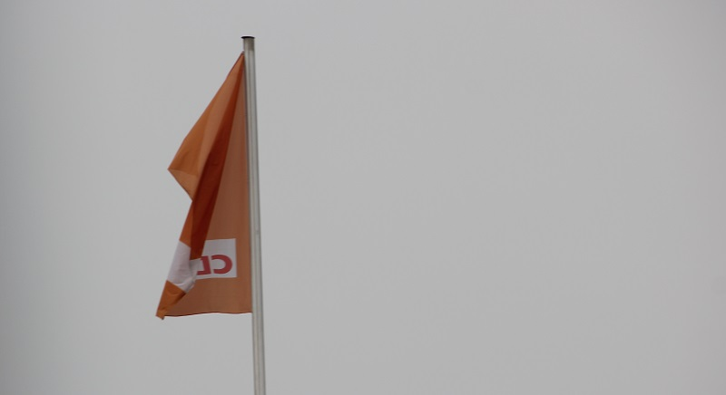 Haengende CDU Fahne