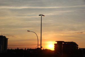 Sonnenuntergang Skyline