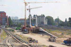 Unangeschlossene S-Bahn Bruecke Ostkreuz