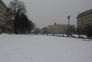 Friedrichshain Schnee Winter
