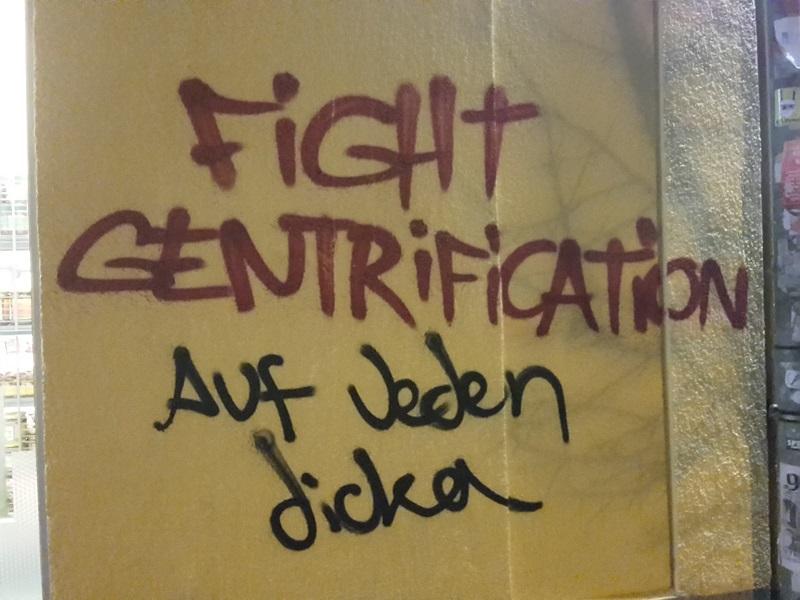 fight gentrification graffiti