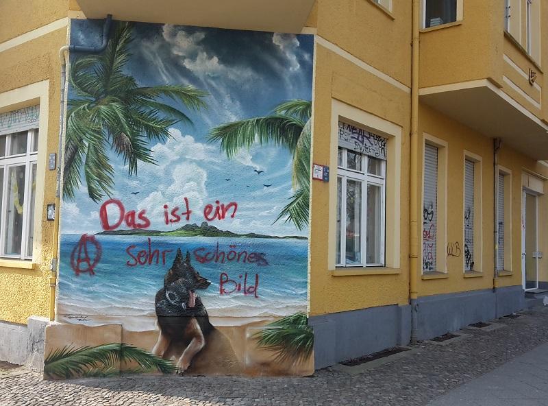 Hauswand Bild Graffiti
