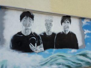 Bemalte Wand 3 Aerzte