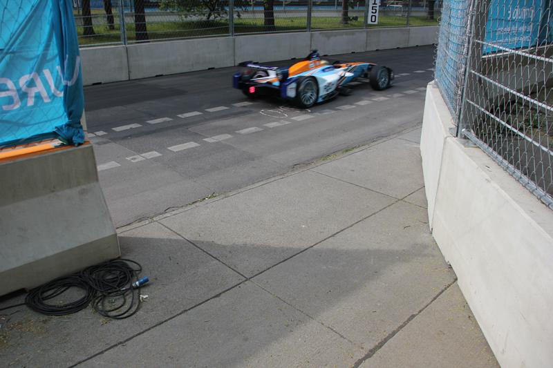 E Rennwagen Formel E Rennen Friedrichshain