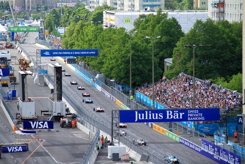 Formel E Rennen Friedrichshain Karl-Marx-Allee