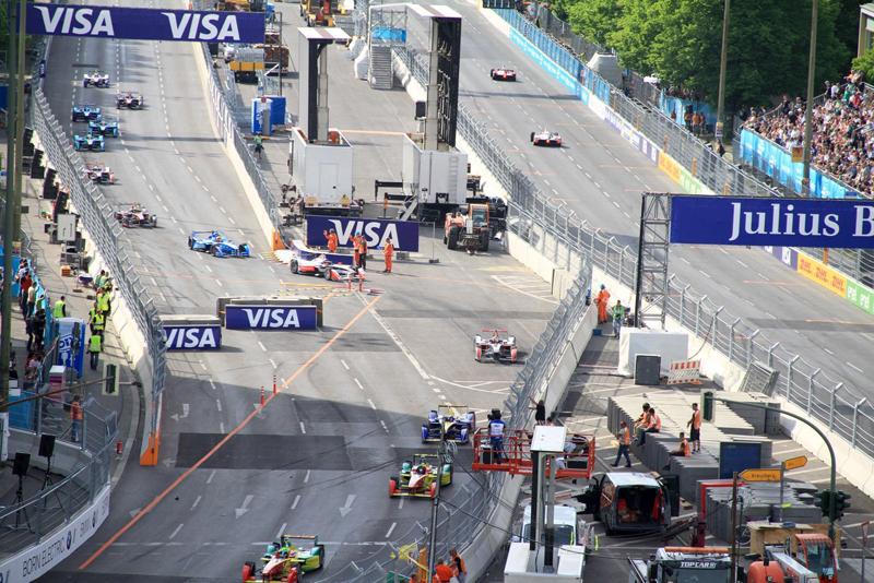 Formel E Rennen Schikane Feld