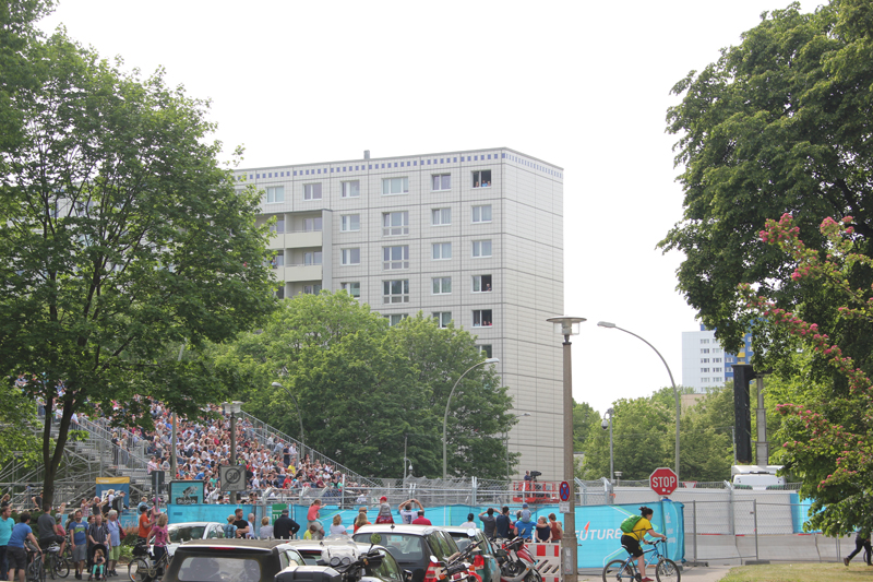Tribuene Formel E Rennen Friedrichshain