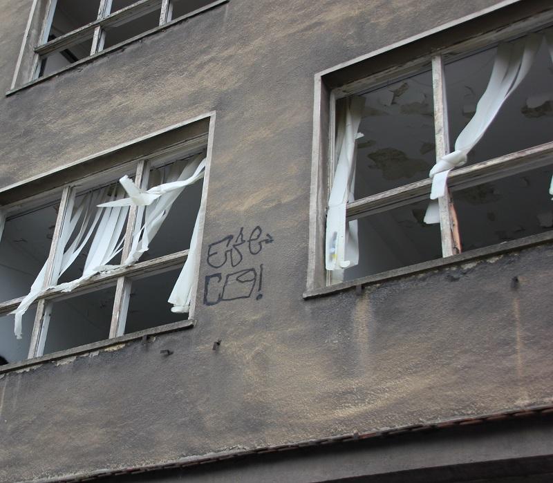 Aus dem Fenster