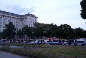 Polizeiaufgebot Demo Friedrichshain