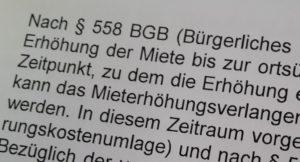 Mieterhoehung 558 BGB