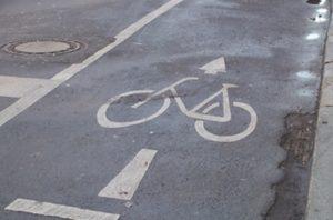 Symbol Fahrradweg