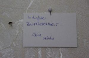 Tote Muecke an der Wand