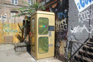 Teledisko Karaoke Telefonzelle Friedrichshain