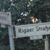 Rigaer Strasse Schild