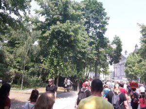 Demozug zur Wiese vor Reichstag