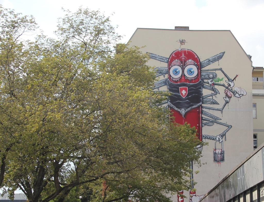 Graffiti Schweizer Armeemesser