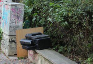 Müll im Park