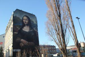 Hauswandsgemaelde Mona Lisa Muehlenstrasse