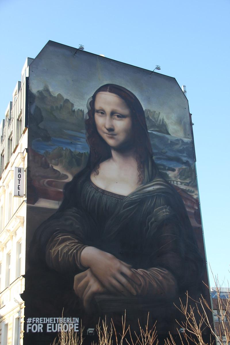 Mona Lisa auf Hauswand Friedrichshain