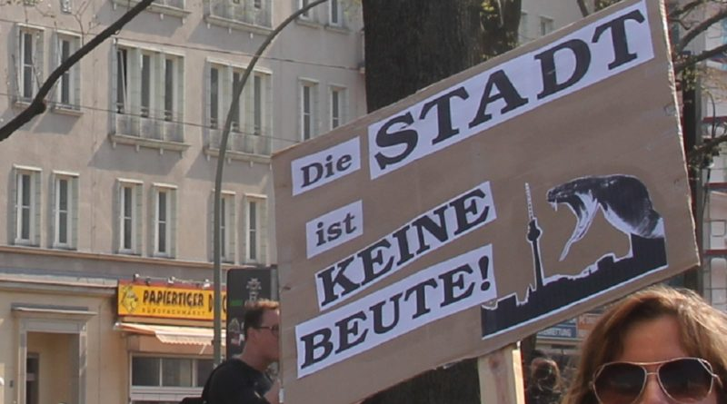 Demoschild 22 Mietenwahnsinn Demo April 2019
