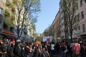 Hausbesetzung Wrangelkiez Mietenwahnsinn Demo April 2019