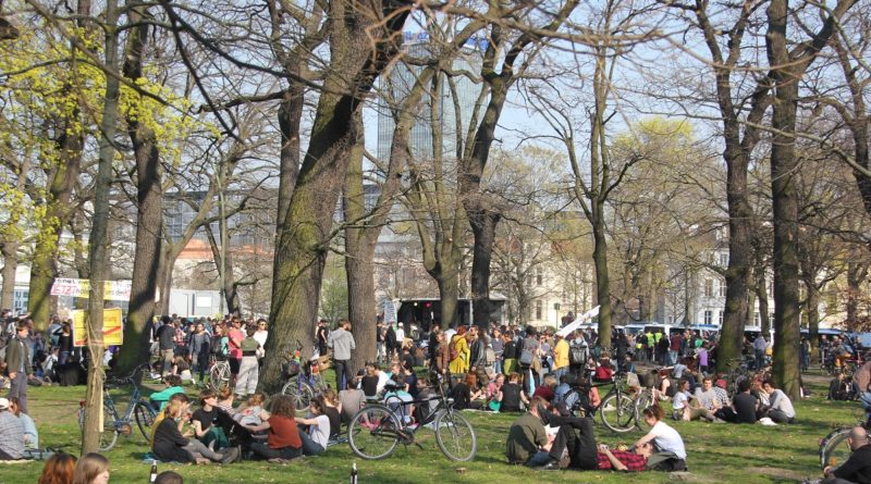 Wiese Abschlusskundgebung Mietenwahnsinn Demo April 2019