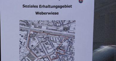 Milieuschutzgebiet Weberwiese Aushang