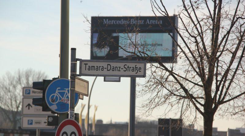 Tamara Danz Straße Schild