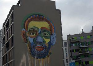 Gesicht Streetart Face Time Kreuzberg