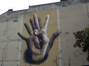 Haende Graffiti Berlin Kreuzberg
