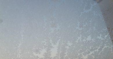 Frost am Fenster