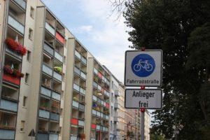 Schild Fahrradstrasse Palisadenstrasse